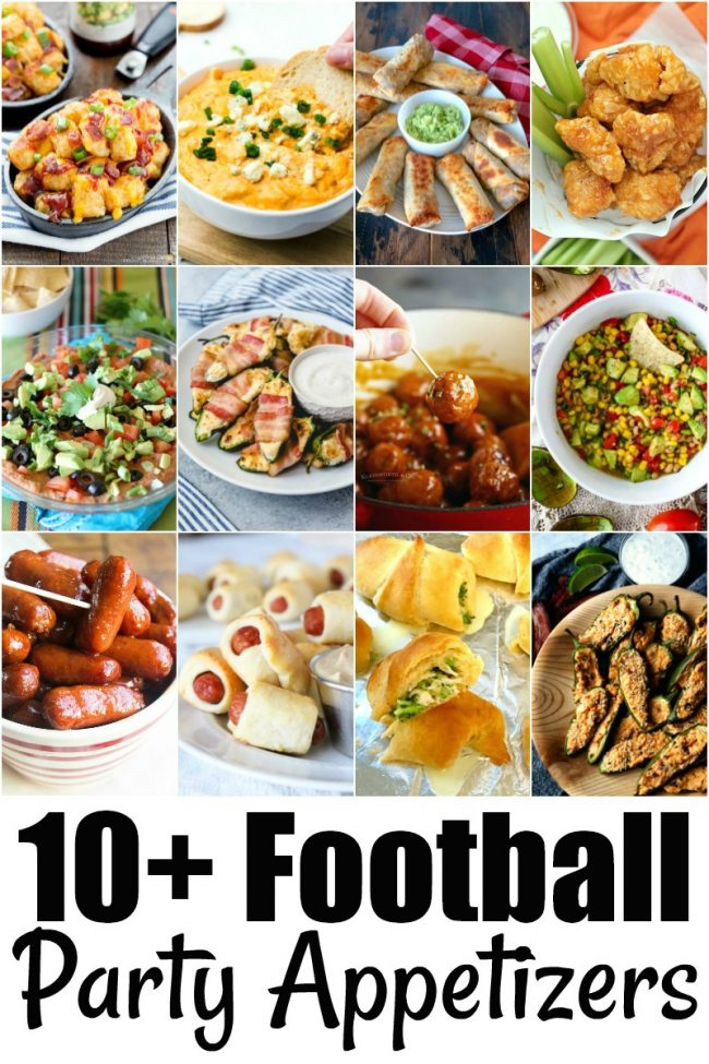 photo collage of game day appetizers