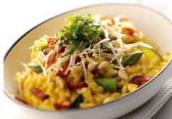 Asiago Vegetable Risotto - Recipe on ItsYummi.com
