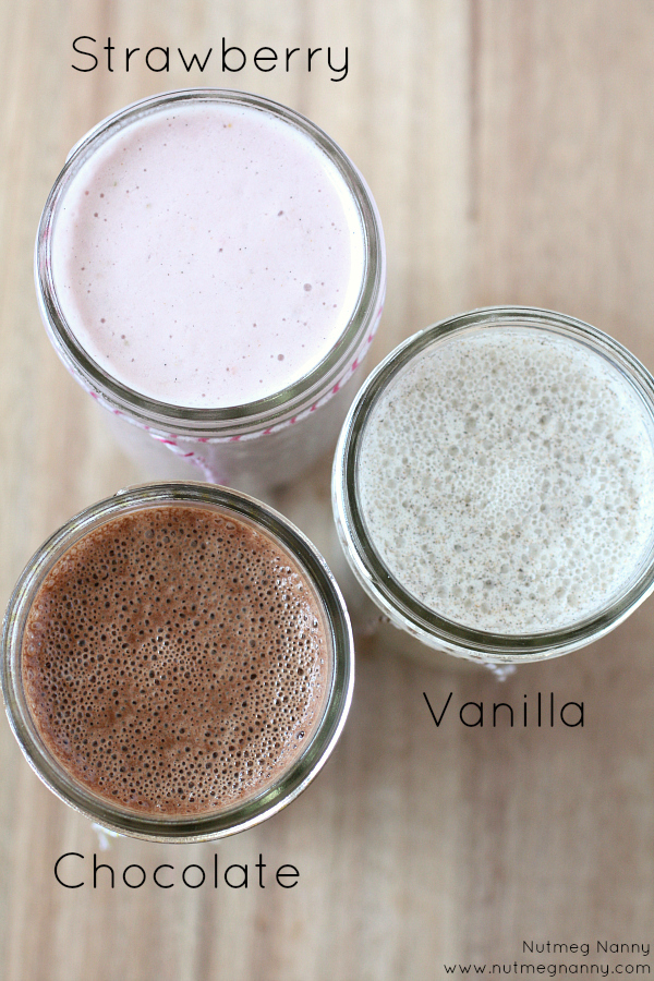 Homemade Almond Milk (in 3 flavors!) from Nutmeg Nanny - Part of a healthy almond recipes collection on ItsYummi.com