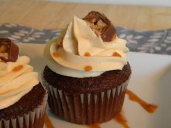 Snickers Cupcake recipe from ItsYummi.com