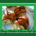 cheesy chicken & bacon roll-ups from ItsYummi.com #recipe #chicken #bacon