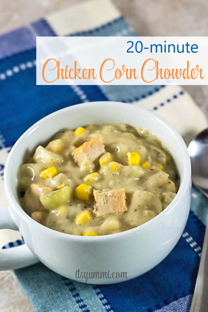 titled photo (and shown): Chicken Corn Chowder
