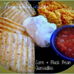 Vegetarian corn and black bean quesadillas recipe