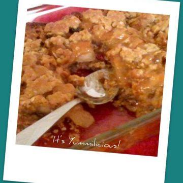 Caramel Apple Raisin Cobbler Recipe