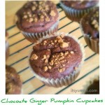 Chocolate Ginger Pumpkin Cupcakes - from ItsYummi.com