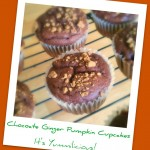 Chocolate Ginger Pumpkin Cupcakes from ItsYummi.com