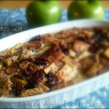 Cherry Apple French Toast Casserole - Get the recipe on ItsYummi.com