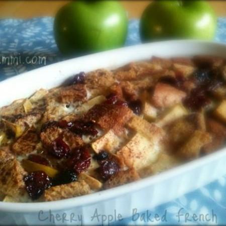 Cherry Apple French Toast Casserole