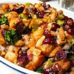 Bountiful Harvest Sausage & Cranberry Stuffing from ItsYummi.com