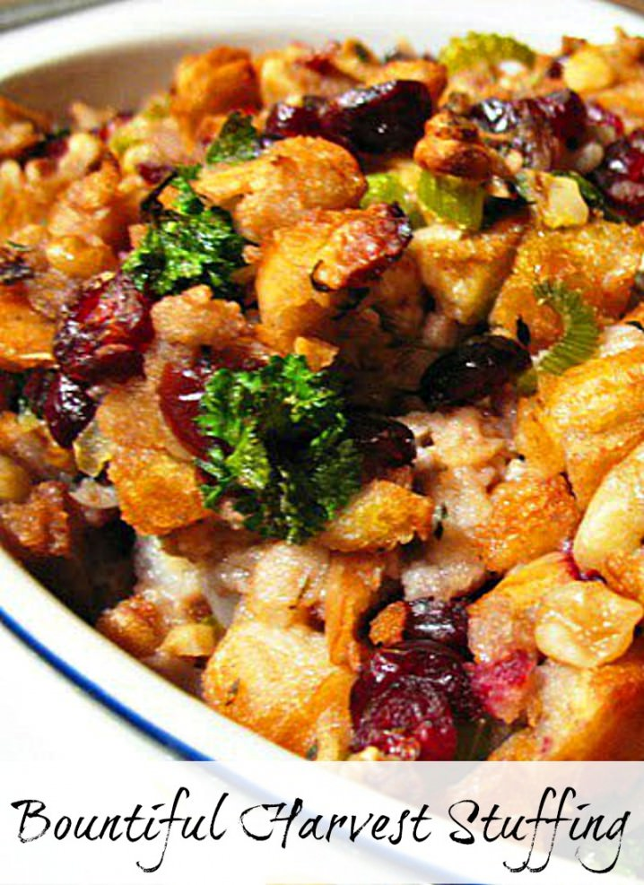This moist, savory bread dressing is loaded with sausage, crisp vegetables, and cranberries, it may be the best sausage stuffing recipe you've ever had!