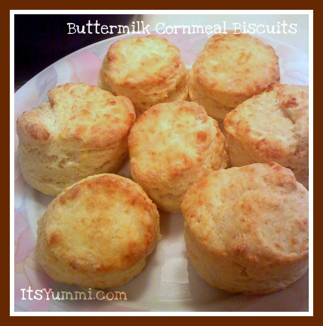 Buttermilk Cornmeal Biscuits with Honey Butter from ItsYummi.com