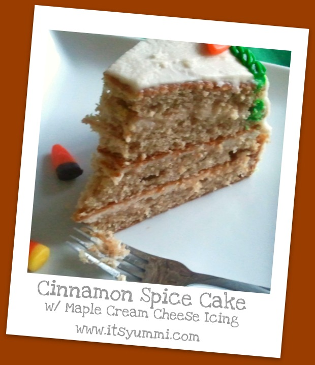 Cinnamon-Spice Cake with Maple Cream Cheese Icing