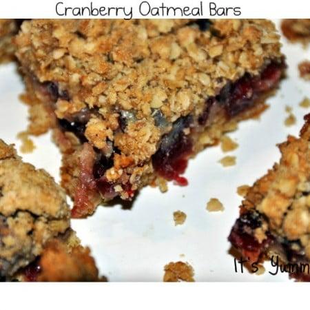 Cranberry Oatmeal Bars