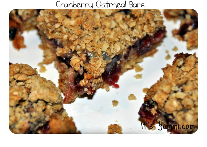 Oatmeal Cranberry Bars from ItsYummi.com