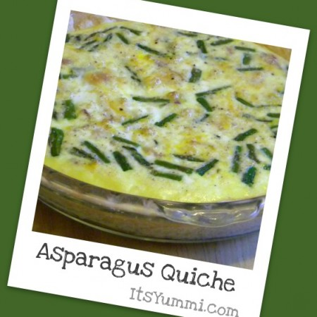 Asparagus Quiche – and a GIVEAWAY!