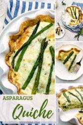 asparagus quiche photo collage