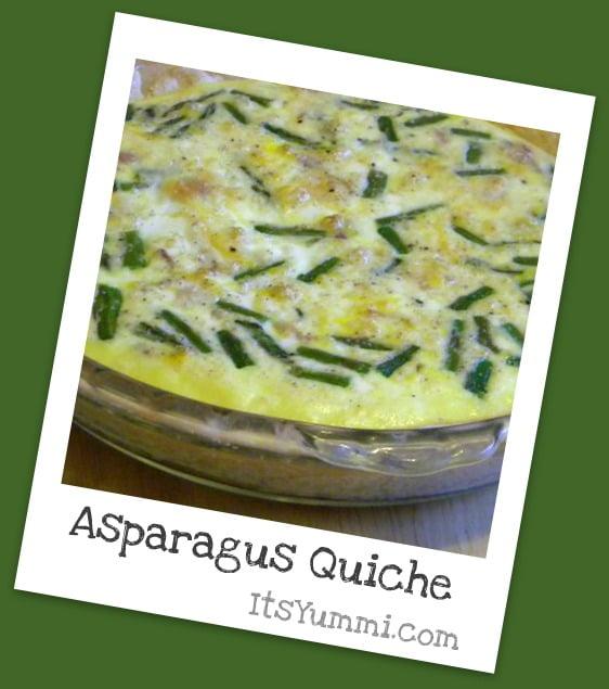 Asparagus Quiche Recipe - get it on ItsYummi.com