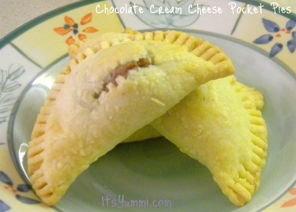 chocolate cream cheese pocket pies