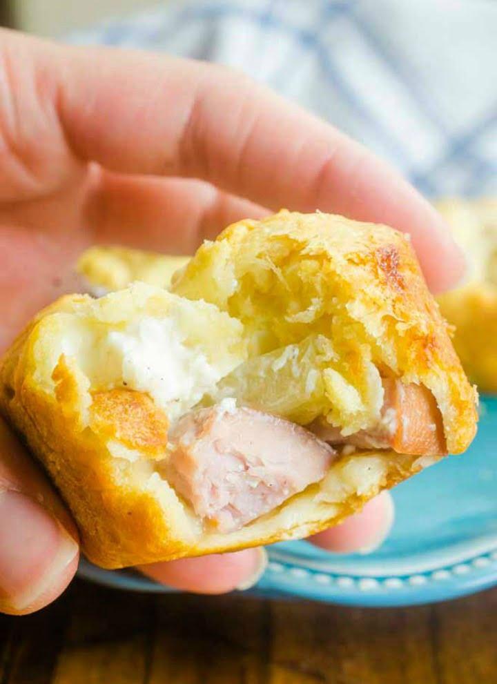 Pineapple Ham Crescent Rolls Appetizer