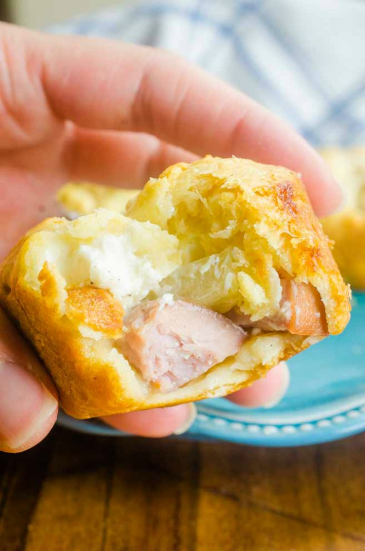 pineapple and ham crescent roll snacks