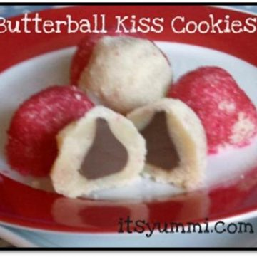 Easy Christmas cookies - butterball kiss cookies