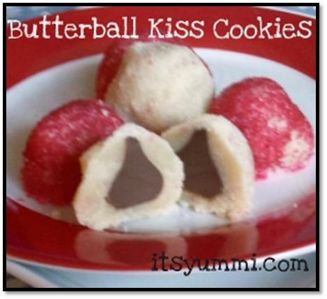One of my favorite holiday cookie recipes are these Butterball Kiss Cookies! Milk chocolate is tucked inside of a sweet sugar cookie, then rolled in colored sugar to make it special for the holidays.