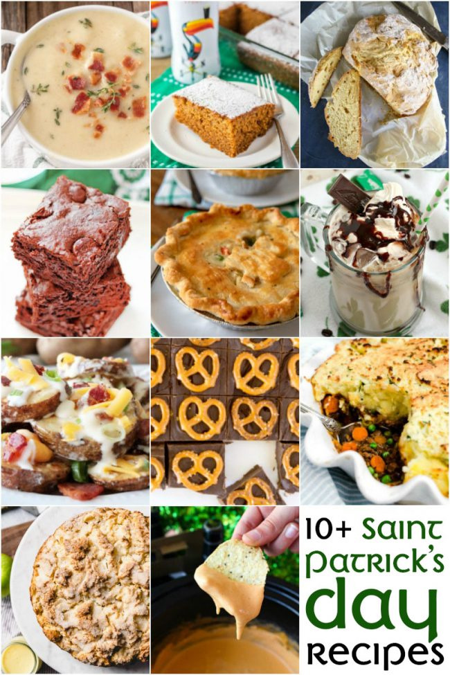 photo collage of St Patrick's Day recipes