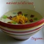 Fully Loaded Mashed Potato Soup - a great recipe for when you have leftover mashed potatoes!