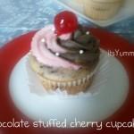 Chocolate Stuffed Cherry Cupcake Recipe from ItsYummi.com