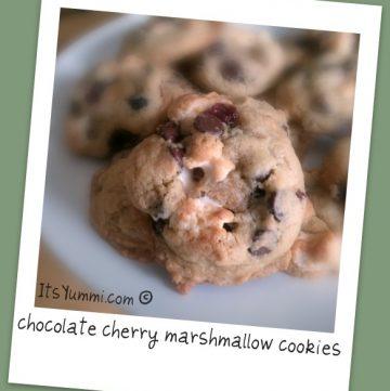 Chocolate Cherry Marshmallow Cookies