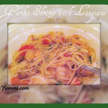 Garlic Shrimp Recipe with Herb Butter Linguine