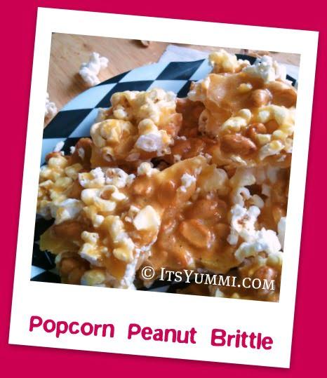 Popcorn Peanut Brittle from ItsYummi.com