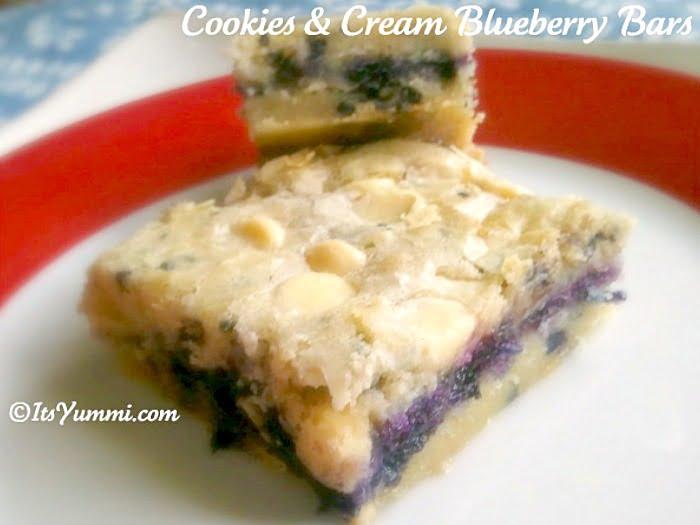 Blueberries 'n Cream Cookie Bars