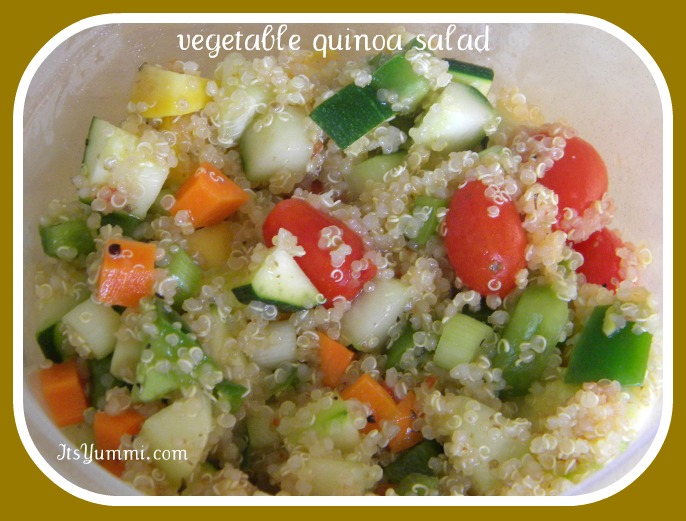 Vegetable Quinoa Salad from ItsYummi.com