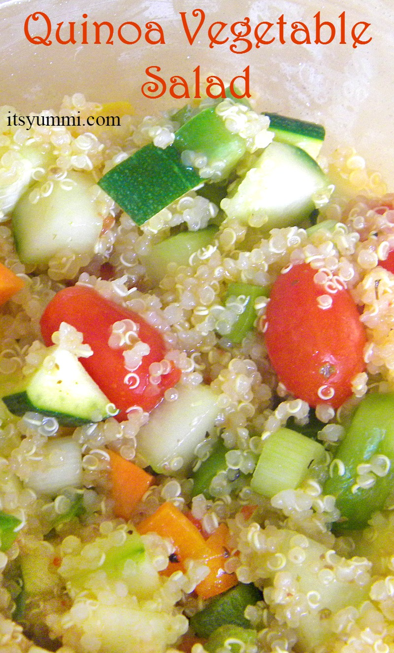 Vegetable Quinoa Salad - A delicious and healthy side dish recipe from itsyummi.com