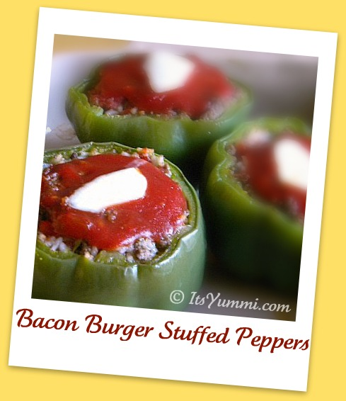 BaconBurgerStuffedPeppers