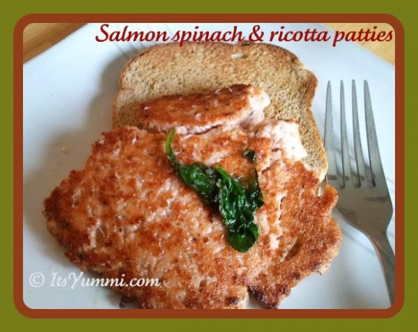 Salmon Spinach Ricotta Patties from ItsYummi.com