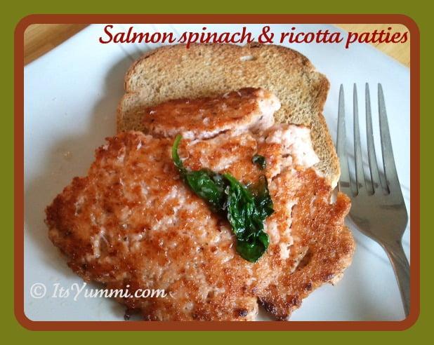 Salmon Spinach Ricotta Patties