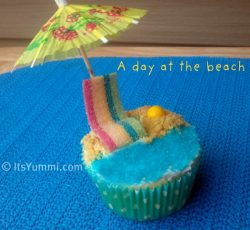 A Day at the Beach Cupcake recipe from ItsYummi.com