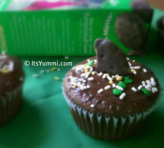 Thin Mint Truffle Cupcakes from ItsYummi.com