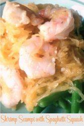 low carb shrimp scampi (close up)