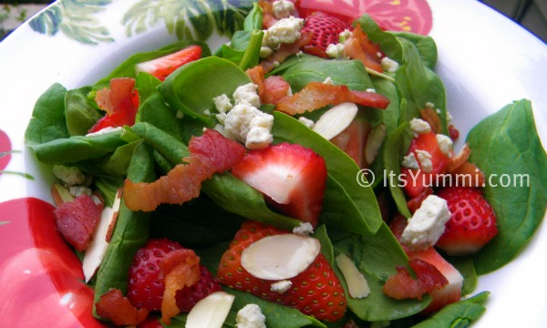strawberry spinach salad