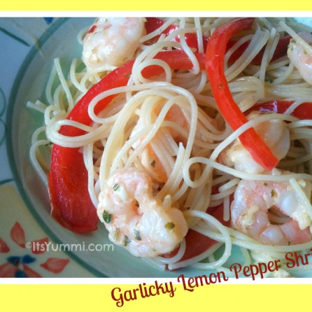 Garlic Lemon Pepper Shrimp ~ 5 Ingredient Fix