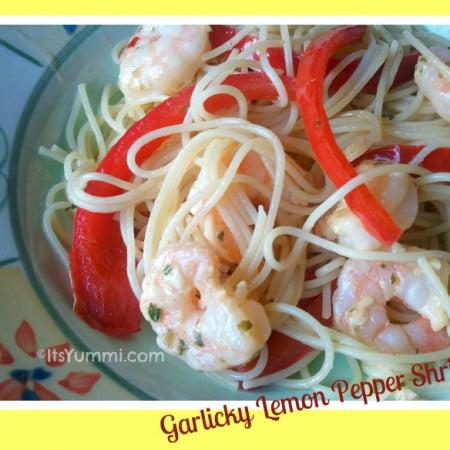 Garlic Lemon Pepper Shrimp ~ 5 Ingredient Fix