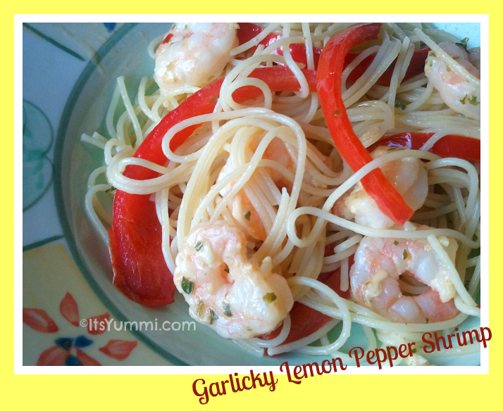 Garlicky Lemon and Pepper Shrimp from ItsYummi.com #Seafood #Recipe