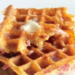 Ham and Cheddar Waffles Recipe