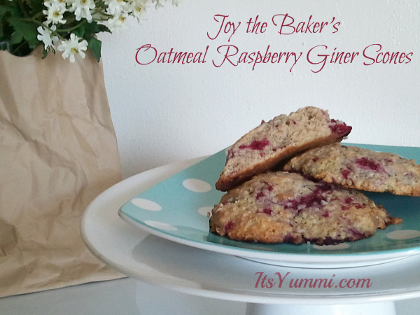 Oatmeal Raspberry Ginger Scones