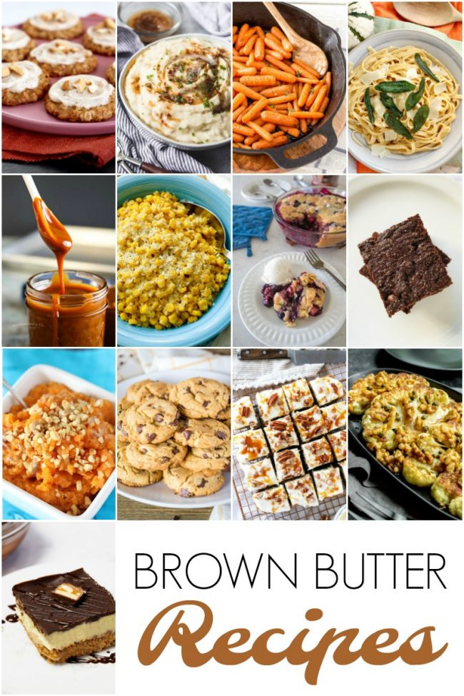 brown butter recipes photo collage