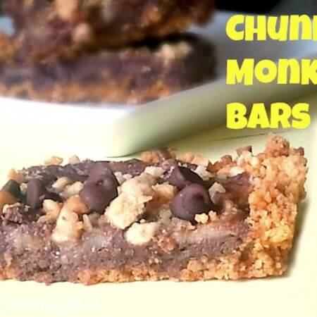 Chunky Monkey Cereal Bars Recipe - These delicious dessert bars are loaded with chocolate, bananas and cashews, baked onto a peanut butter cereal crust. SO flippin' good!