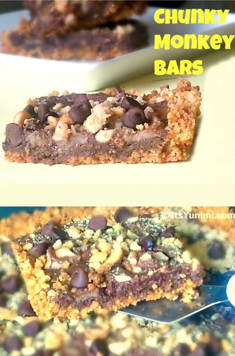Chunky Monkey Cereal Bars Recipe ~ ItsYummi.com